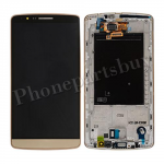 LCD Screen Display with Touch Digitizer and Bezel Frame for LG G3 D855/ D850/ VS985(for LG)- Gold PH-LCD-LG-00093GD