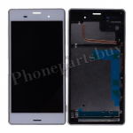 LCD Screen Display with Digitizer Touch Panel and Bezel Frame for Sony Xperia Z3  D6643/ D6653(for SONY), Not for Canada - White PH-LCD-SE-00031WH
