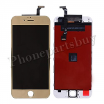 LCD Screen Display with Touch Digitizer Panel and White Frame for iPhone 6(4.7 inches) - Electroplated Gold Mirror Effect PH-LCD-IP-00063GDWH