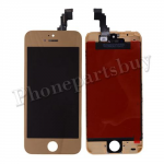 LCD, Touch Screen Digitizer & LCD Frame  for iPhone 5C - Electroplated Gold Mirror Effect PH-LCD-IP-00047GDF