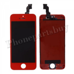 LCD,Touch Screen Digitizer & Red LCD Frame for iPhone 5C-Red PH-LCD-IP-00046RDB