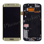 LCD Screen Display with Touch Digitizer Panel, Bezel Frame and Home Button for Samsung Galaxy S6 Edge G925/ G925F/ G925I/ G925X/ G925A/ G925T/ G925R4/ G925W8(OEM) - Gold Platinum PH-LCD-SS-00137GD