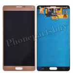 LCD with Touch Screen Digitizer and Stylus Pen Flex Cable for Samsung Galaxy Note 4 N910/ N910M/ N910F/ N910S/ N910C/ N910A/ N910V/ N910P/ N910R/ N910T/ N910W8(OEM)-Gold PH-LCD-SS-00124GD