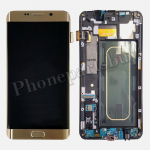 LCD Screen Display with Digitizer Touch Panel and Bezel Frame for Samsung Galaxy S6 Edge+ Plus G928F/G928A(OEM)- Gold Platinum PH-LCD-SS-00171GD