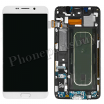 LCD Screen Display with Digitizer Touch Panel and Bezel Frame for Samsung Galaxy S6 Edge+ Plus G928F/G928A(OEM)- White Pearl PH-LCD-SS-00171WH
