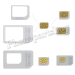 Nano Sim Adapter for iPhone4/4S/5 (Micro Sim+Nano Sim) - White MT-TO-IP-00006WH