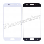 Front Screen Glass Lens for Samsung Galaxy S7 G930/ G930F/ G930A/ G930V/ G930P/ G930T/ G930R4/ G930W8(Super High Quality) (for SAMSUNG) - White PH-TOU-SS-00141WH