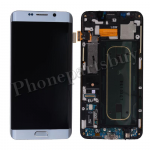 LCD Screen Display with Digitizer Touch Panel and Bezel Frame for Samsung Galaxy S6 Edge+ Plus G928F/G928A(OEM)- Silver Titanium PH-LCD-SS-00171SL
