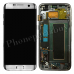 LCD Screen Display with Digitizer Touch Panel and Bezel Frame for Samsung Galaxy S7 Edge G935F(OEM) - Silver PH-LCD-SS-00190SL