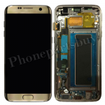 LCD Screen Display with Digitizer Touch Panel and Bezel Frame for Samsung Galaxy S7 Edge G935F(OEM) - Gold PH-LCD-SS-00190GD