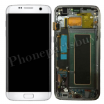 LCD Screen Display with Digitizer Touch Panel and Bezel Frame for Samsung Galaxy S7 Edge G935F(OEM) - White PH-LCD-SS-00190WH