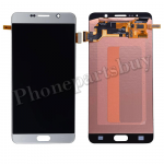 LCD Screen Display with Digitizer Touch Panel for Samsung Galaxy Note 5 N920 N920F N920A N920V N920P N920T N920R4 N920W8(With Stylus Pen Flex Cable)(OEM) - Silver Titanium PH-LCD-SS-00172SL