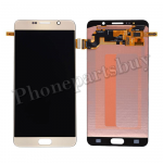LCD Screen Display with Digitizer Touch Panel for Samsung Galaxy Note 5 N920/ N920F/ N920A/ N920V/ N920P/ N920T/ N920R4/ N920W8(With Stylus Pen Flex Cable)(OEM) - Gold Platinum PH-LCD-SS-00172GD