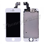 Complete LCD with Touch Screen Digitizer, Frame and Front Camera For iPhone 5S-White PH-LCD-IP-00049WH