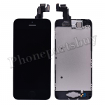 Complete LCD with Touch Screen Digitizer, Frame, and Front Camera For iPhone 5C-Black PH-LCD-IP-00050BK