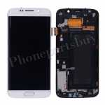 LCD Screen Display with Touch Digitizer Panel, Bezel Frame and Home Button for Samsung Galaxy S6 Edge G925/ G925F/ G925I/ G925X/ G925A/ G925T/ G925R4/ G925W8(OEM) - White PH-LCD-SS-00137WH