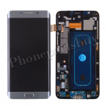 LCD Screen Display with Digitizer Touch Panel, Middle Frame, Charger Port, Touch Sensor Keyboard and Home Button Flex Cable for Samsung Galaxy S6 Edge+ Plus G928i(for SAMSUNG) - Silver Titanium PH-LCD-SS-00193SL