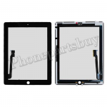 Touch Screen Digitizer with Home Button Assembly for The New iPad 4-Black PH-TOU-IP-00013BK