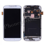 LCD with Touch Screen Digitizer & Home Button with Front Cover for Samsung Galaxy S4 i9506(for SAMSUNG) - White PH-LCD-SS-00198WH