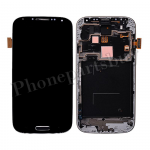 LCD with Touch Screen Digitizer & Home Button with Front Cover for Samsung Galaxy S4 i9506(for SAMSUNG) - Blue PH-LCD-SS-00198BU