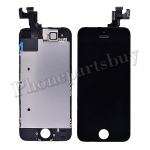 Complete LCD with Touch Screen Digitizer, Frame and Front Camera For iPhone 5S/iPhone SE-Black PH-LCD-IP-00049BKE