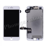 Complete LCD Screen Display with Touch Digitizer Panel and Frame,Front Camera,Earpiece Speaker & Proximity Sensor Flex Cable for iPhone 7 Plus(5.5 inches) - White PH-LCD-IP-00073WH
