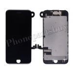 Complete LCD Screen Display with Touch Digitizer Panel and Frame,Front Camera,Earpiece Speaker & Proximity Sensor Flex Cable for iPhone 7(4.7 inches) - Black PH-LCD-IP-00074BK