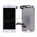 Complete LCD Screen Display with Touch Digitizer Panel and Frame,Front Camera,Earpiece Speaker & Proximity Sensor Flex Cable for iPhone 7(4.7 inches) - White PH-LCD-IP-00074WH