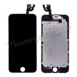 Complete LCD with Touch Screen Digitizer, Frame and Front Camera for iPhone 6(4.7 inches)(Super High Quality)-Black PH-LCD-IP-00060BKA