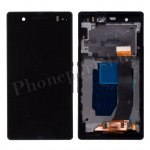 LCD Screen Display with Digitizer Touch Panel and Bezel Frame for Sony Xperia Z L36h(For SONY) - Black PH-LCD-SE-00050BK
