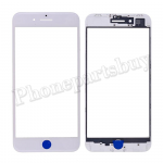 Front Screen Glass Lens with LCD Digitizer Frame for iPhone 8 Plus (5.5 inches) - White PH-TOU-IP-00049WH