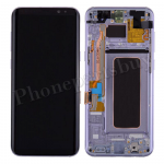 LCD Screen Display with Digitizer Touch Panel and Bezel Frame and Earpiece Speaker for Samsung Galaxy S8 Plus G955U  (Purple Frame)   - Black PH-LCD-SS-00213BKPL