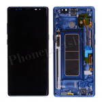 LCD Screen Display with Digitizer Touch Panel and Frame for Samsung Galaxy Note 8 N950 (Blue Frame) - Black PH-LCD-SS-00221BKBU