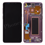 LCD Screen Display with Digitizer Touch Panel and Bezel Frame for Samsung Galaxy S9 G960(Purple Frame) - Black PH-LCD-SS-00231BKPL