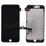 Complete LCD Screen Display with Touch Digitizer Panel and Frame,Front Camera,Earpiece Speaker & Proximity Sensor Flex Cable for iPhone 8 Plus (5.5 inches) (Generic Plus) - Black PH-LCD-IP-00088BKP
