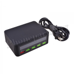 5 Ports Quick Charge 3.0 USB Charger Adapter Smart LED Display Charging Station - Black MT-EI-UN-00324BK