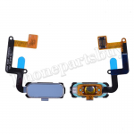Home Button with Flex Cable,Connector and Fingerprint Scanner Sensor for Samsung Galaxy A7 2017 A7200/ A5 2017 A520 - Blue PH-HB-SS-00081BU