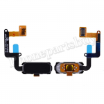 Home Button with Flex Cable,Connector and Fingerprint Scanner Sensor for Samsung Galaxy A7 2017 A7200/ A5 2017 A520 - Black PH-HB-SS-00081BK