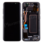 LCD Screen Display with Digitizer Touch Panel and Bezel Frame and Earpiece Speaker for Samsung Galaxy S8 G950F(Black Frame)(OEM) - Black PH-LCD-SS-00212BKBK