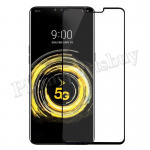 Full Curved Tempered Glass Screen Protector for LG V50 ThinQ(Retail Packaging) - Black MT-SP-LG-00073BK