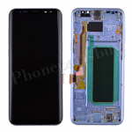 LCD Screen Display with Digitizer Touch Panel and Bezel Frame and Earpiece Speaker for Samsung Galaxy S8 Plus G955U (Blue Frame)   - Black PH-LCD-SS-00213BKBU
