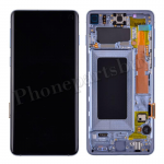 LCD Screen Display with Digitizer Touch Panel and Bezel Frame for Samsung Galaxy S10 G973(Blue Frame) - Black PH-LCD-SS-00252BKBU