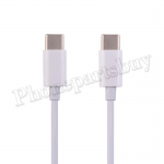 2M Type-C to Type-C Fast Charging Data Cable for iPad Pro 11/ 12.9(3rd Gen)/ Samsung Galaxy S10 Plus/ S10/ S10e/ Google Pixle (Super High Quality) - White MT-EI-UN-00334WHAA