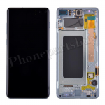 LCD Screen Display with Digitizer Touch Panel and Bezel Frame for Samsung Galaxy S10 Plus G975(Green Frame) - Black PH-LCD-SS-00253BKGR