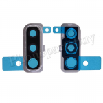 Rear Camera Glass Lens and Cover Bezel Ring for Samsung Galaxy A50 (2019) A505 - Silver PH-CA-SS-00239SL