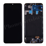 LCD Screen Display with Digitizer Touch Panel and Frame for Samsung Galaxy A20 2019 A205 - Black PH-LCD-SS-00272BK