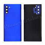 Back Cover Battery Door with Camera Glass Lens and Cover for Samsung Galaxy Note 10 N970 - Blue PH-HO-SS-00242BU
