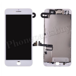FULL LCD Screen Display with Touch Digitizer Panel and Frame,Front Camera,Earpiece Speaker & Proximity Sensor Flex Cable for iPhone 7 Plus (5.5 inches) (Generic Plus) - White PH-LCD-IP-00073WHP
