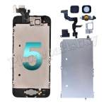Complete LCD with Touch Screen Digitizer, Front Camera and Frame for iPhone 5 -Black PH-LCD-IP-00043BK