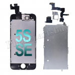 Complete LCD with Touch Screen Digitizer, Frame and Front Camera For iPhone 5S/iPhone SE(2016)-Black PH-LCD-IP-00049BKE